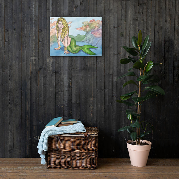 The Mermaid Reef Fine Coastal Art Canvas Print
