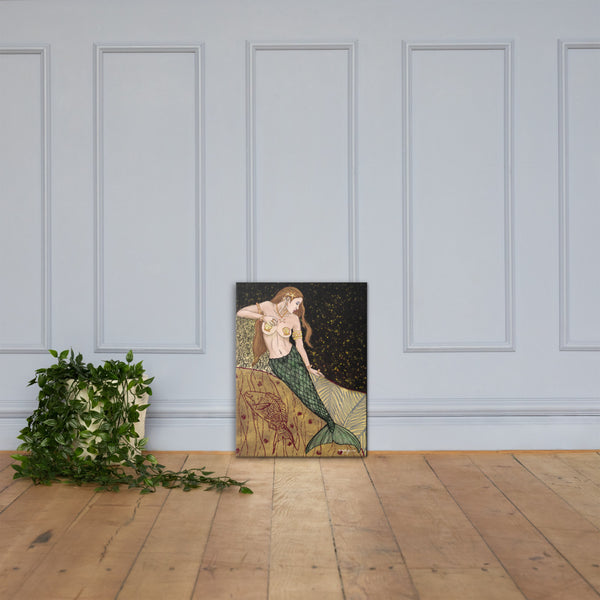 Nouveau Mermaid Fine Art Canvas