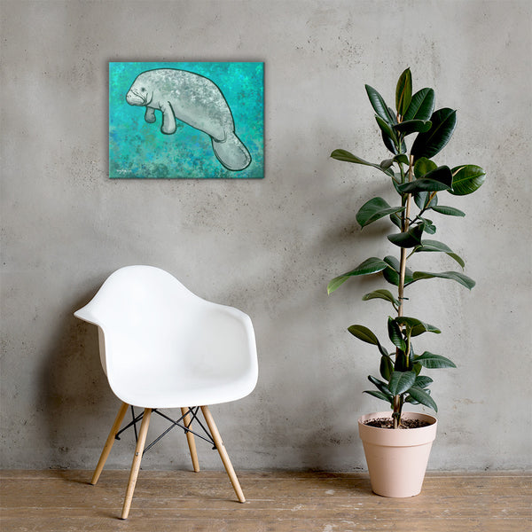 The Manatee Fine Art Canvas
