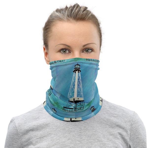 Alligator Reef  Lighthouse Face Mask Neck Gaiter