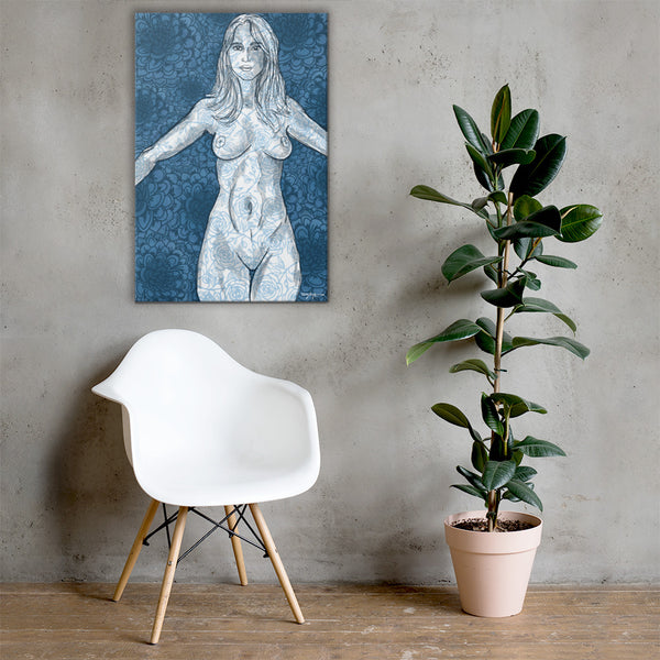 Porcelain Woman Fine Contemporary Art Canvas Print