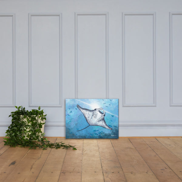 Impression Manta Ray Fine Art Canvas Print