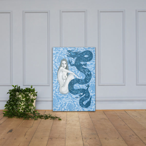 Blue Dragon Contemporary Fine Art Canvas Print