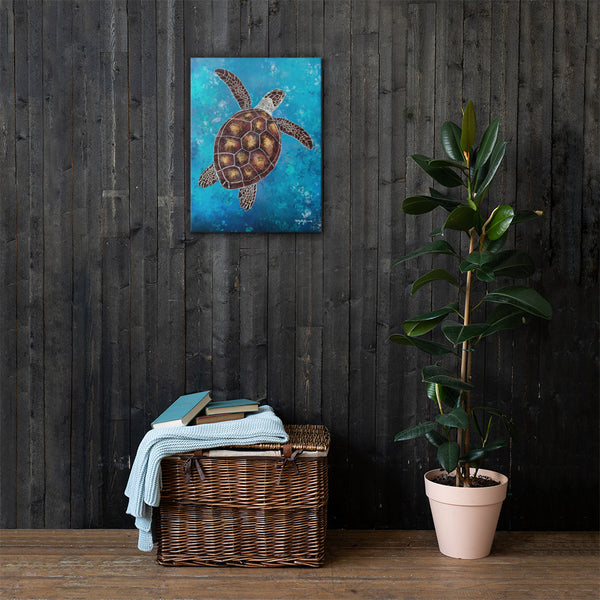 Honu Sea Turtle Fine Art Canvas