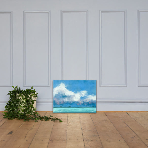 Water Clouds Fine Art Canvas