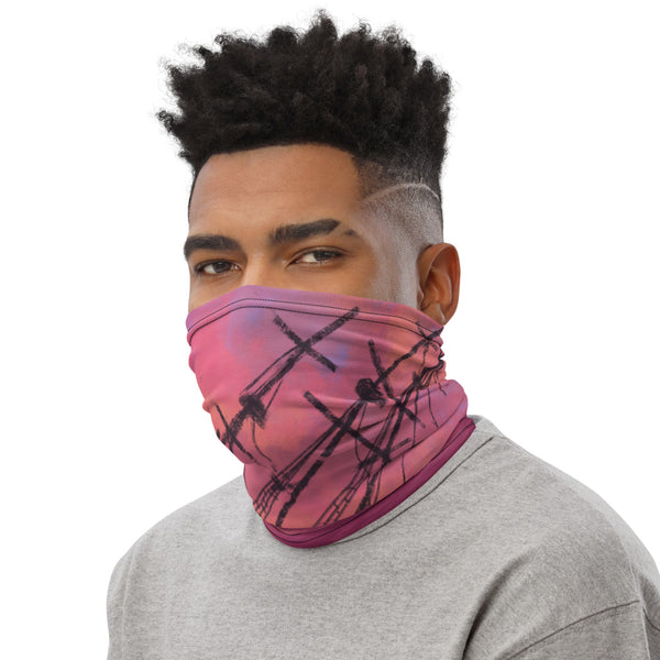 Sunset Shipwreck Face Mask Neck Gaiter