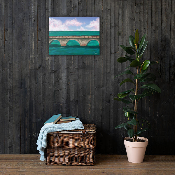The Old Seven Mile Bridge Fine Art Canvas