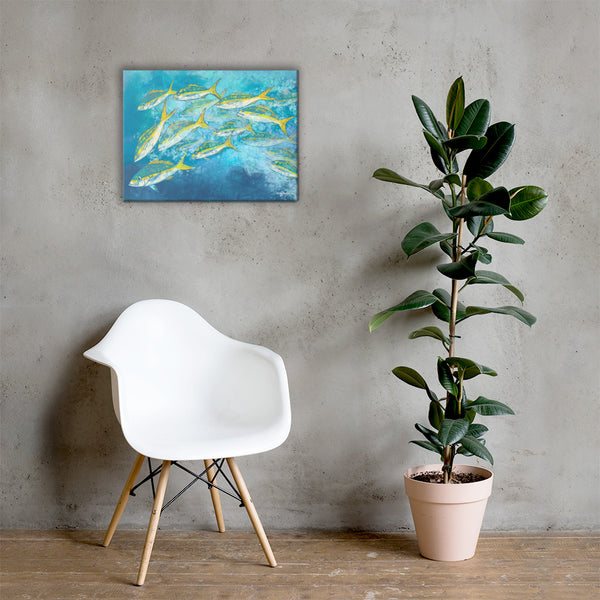 Yellowtail School Fine Art Canvas