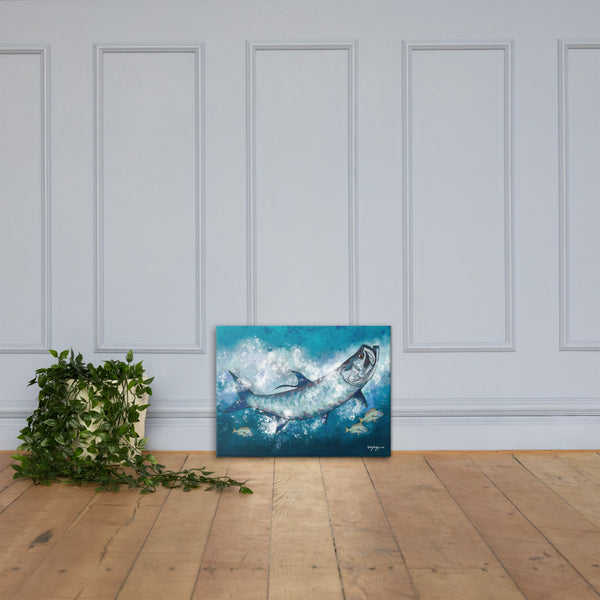 The Regal Tarpon Fine Art Canvas Print