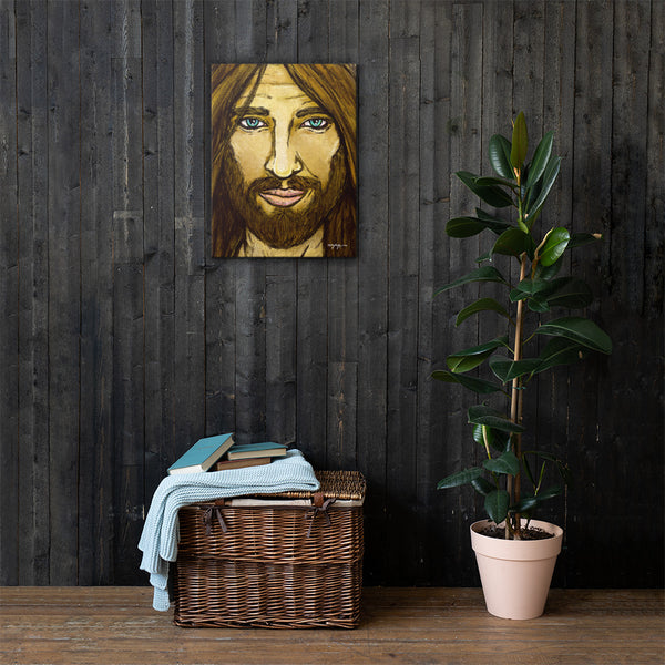 Son of Man Close-Up Jesus Christ Christian Fine Art  Canvas Print