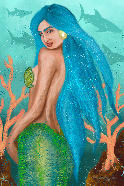 Glamour Mermaid Fine Art Print 12 x 18