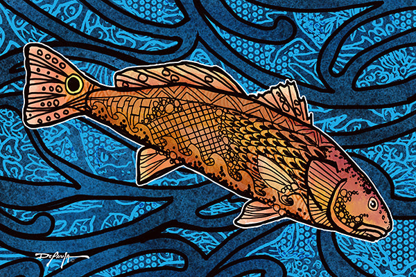 The Redfish Red Drum Tide Fine Art Print 12 x 18
