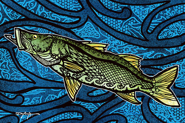 The Snook Tide Fine Art Print 12 x 18