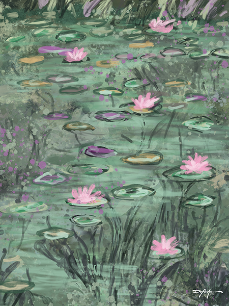 Lily Pads Fine Art Canvas