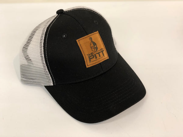 Black & White Suede Patch Hat