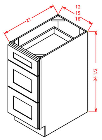 TW Vanity Drawer Base