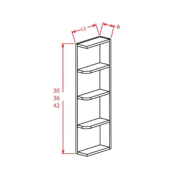 Open End Shelves - Cabinets on Demand