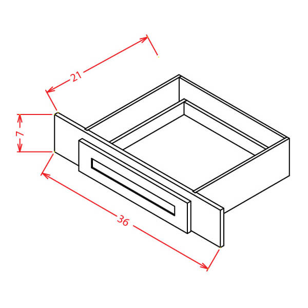Vanity Knee Drawer - Cabinets on Demand