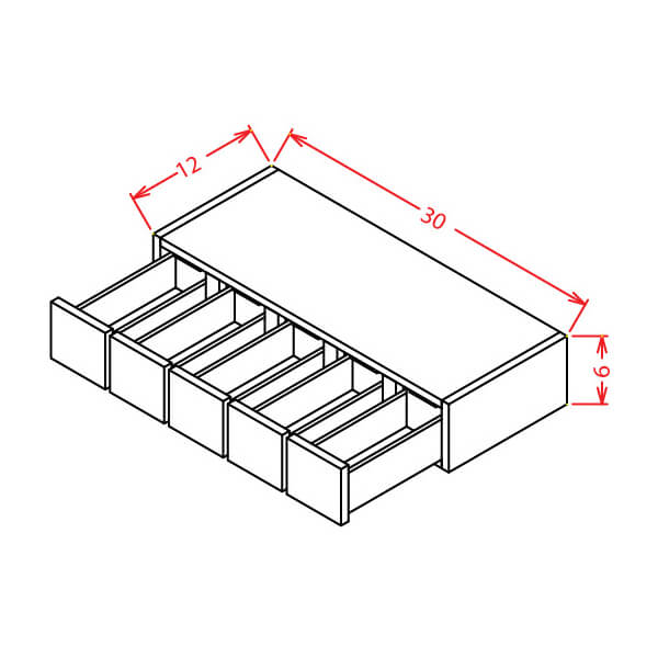 Wall Spice Drawer - Cabinets on Demand