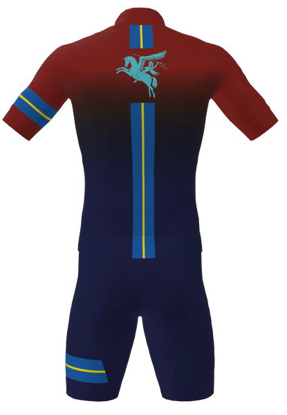Red / Blue fade --7 Para RHA Corsa Bib Shorts