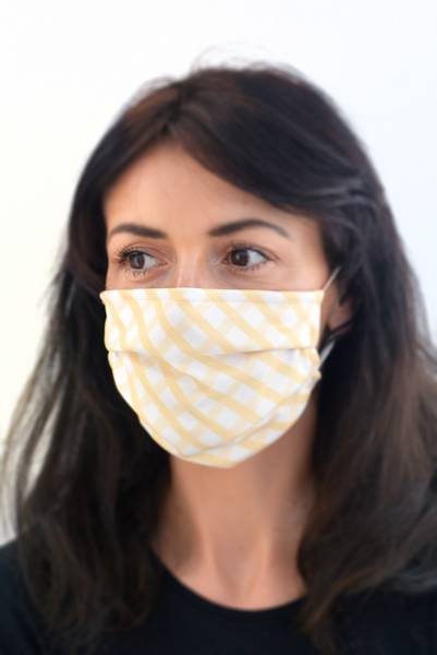Reusable face mask + 10 filters (Navy / Olive / Maroon / Polkadot / Yellow)