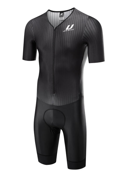 PRO Aero Speedsuit / Short Sleeve --Long Thigh + Aero Number Pocket  (UCI Legal)