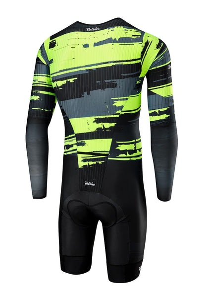 Grey / Fluo PRO Aero Speedsuit + pocket (UCI Legal)