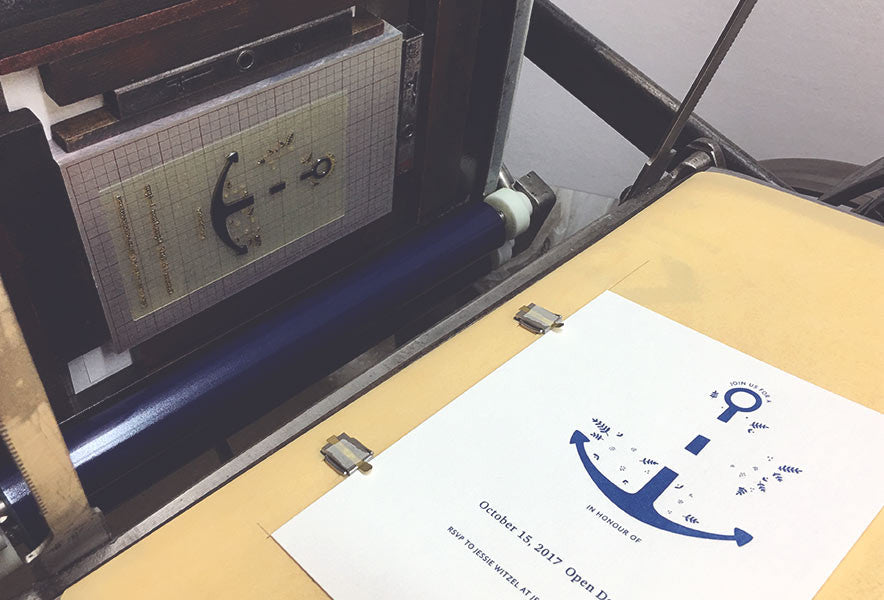 Printing first colour