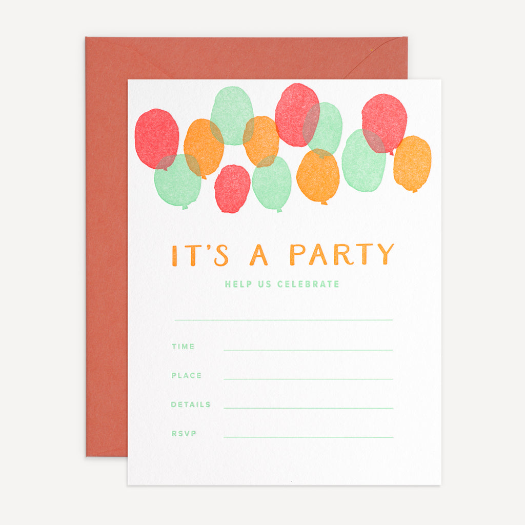 It's a Party Balloon Invites