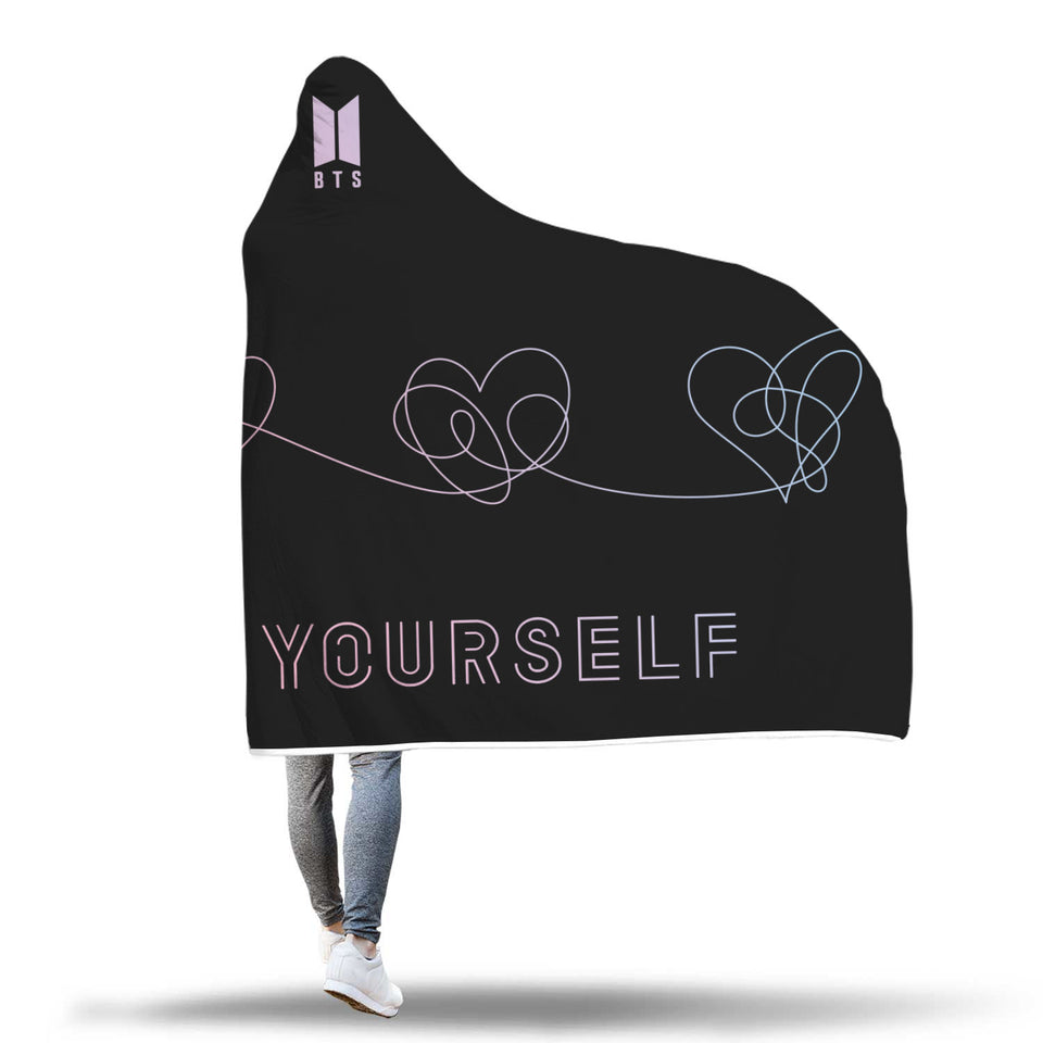 BTS Love Yourself: Answer Hooded Blanket (Black)