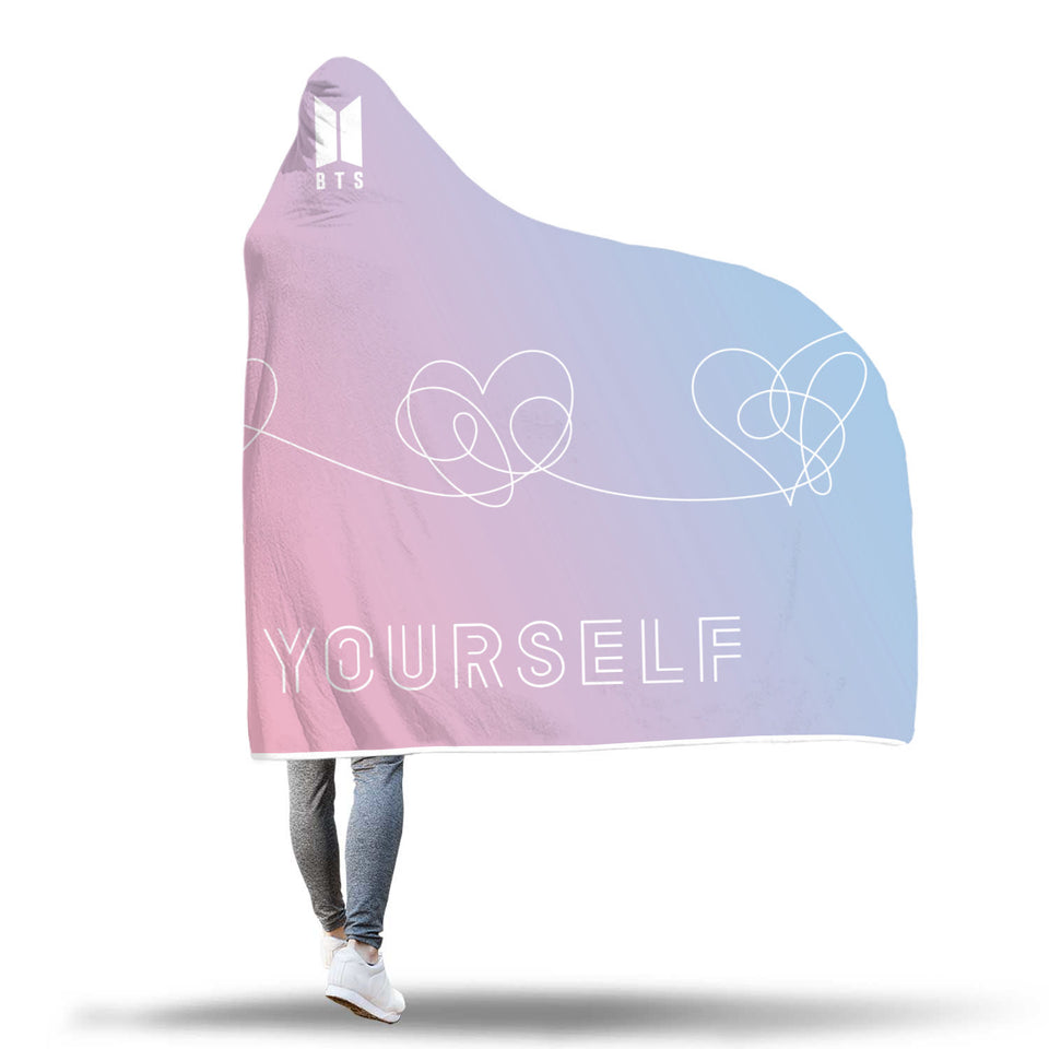 BTS Love Yourself: Answer Hooded Blanket (Gradient)