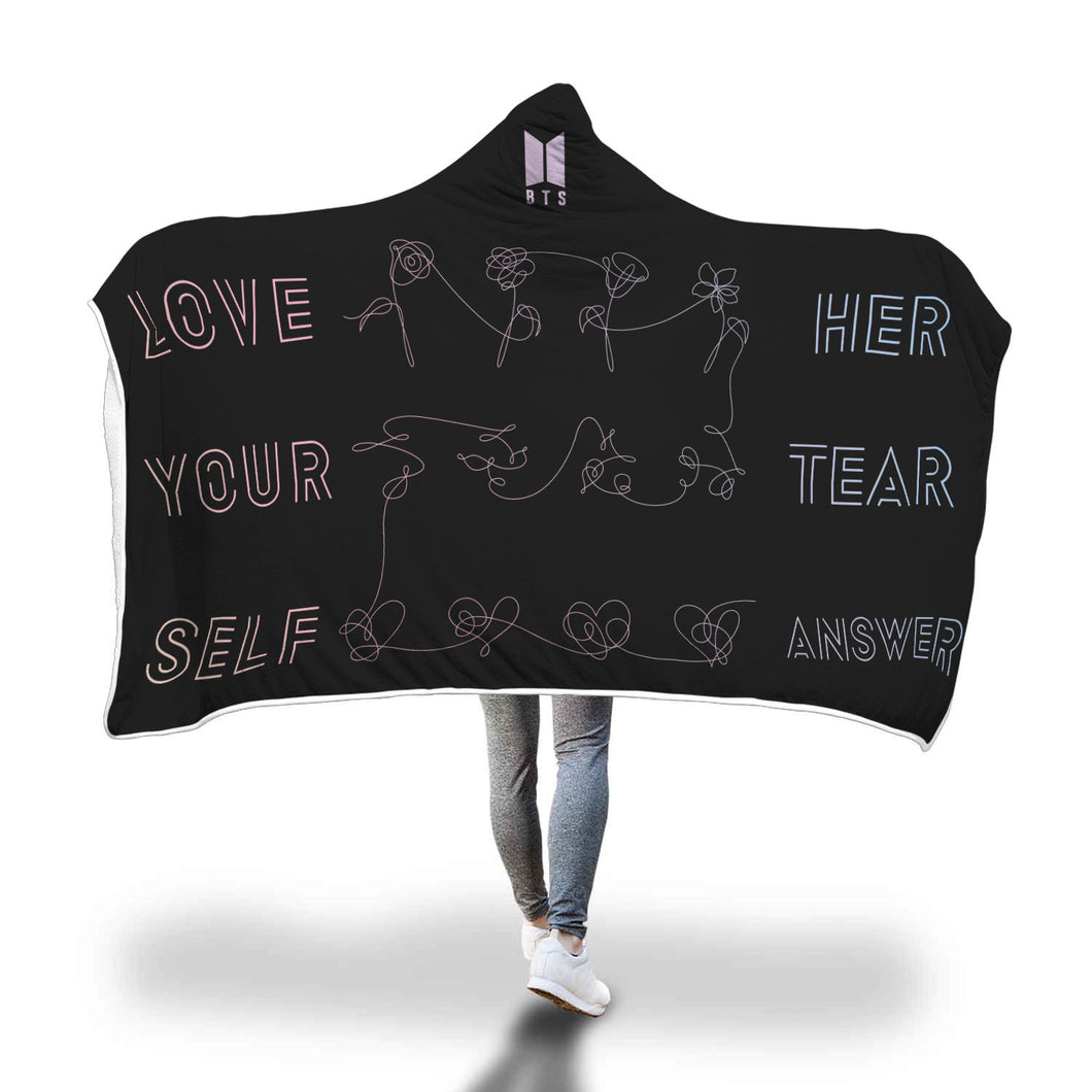 BTS Love Yourself: HER TEAR ANSWER Hooded Blanket