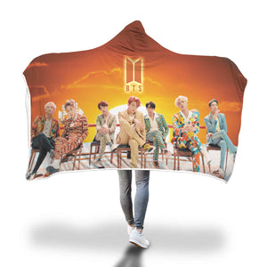 BTS IDOL Ending Hooded Blanket