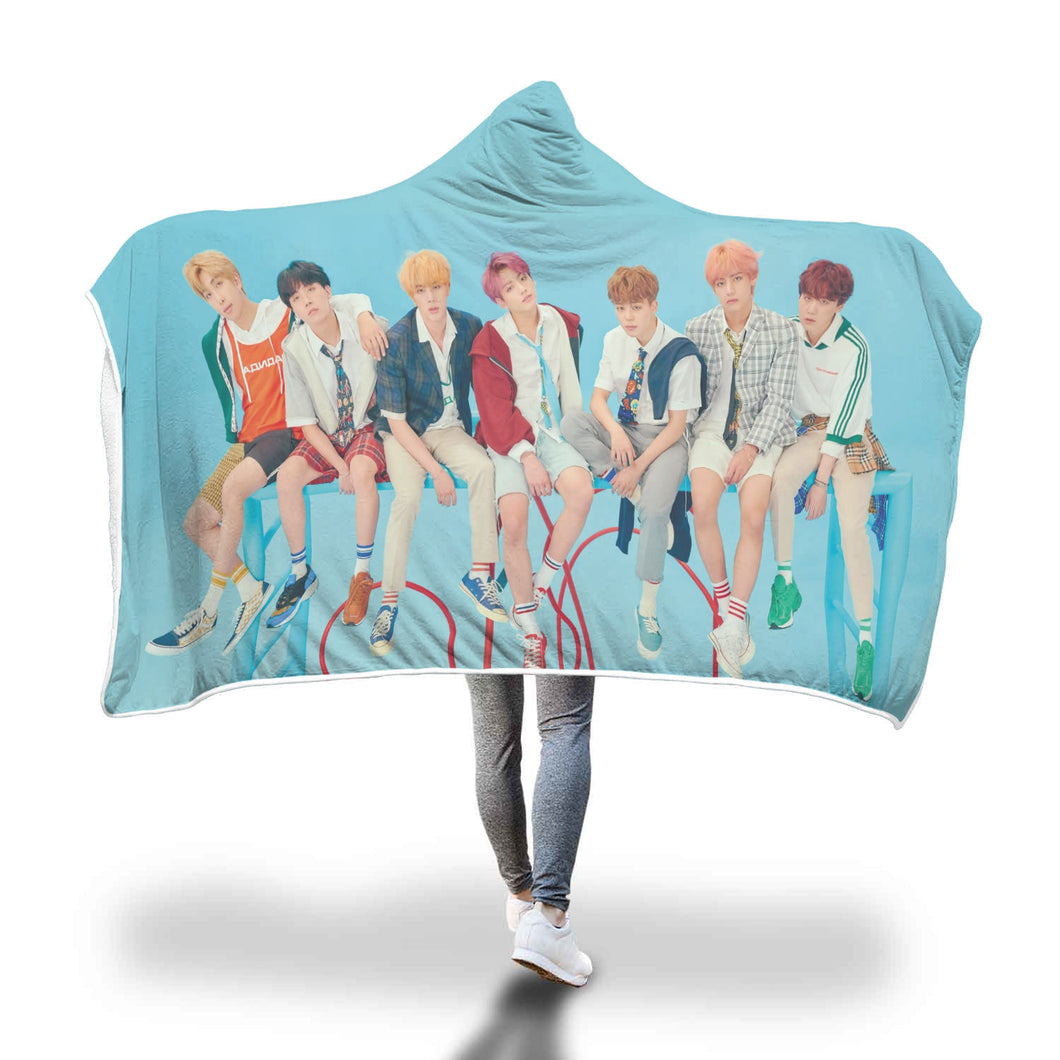 BTS LY Answer F Version Hooded Blanket