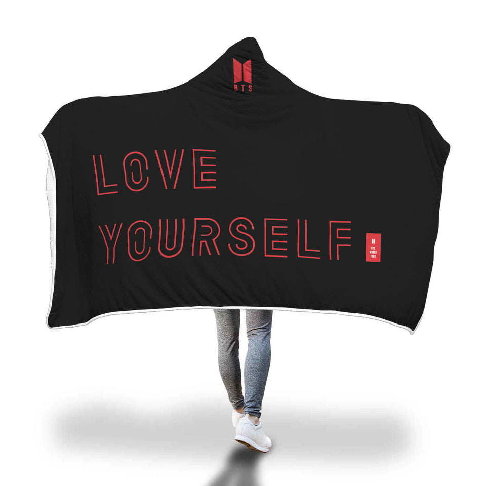BTS Love Yourself World Tour Hooded Blanket