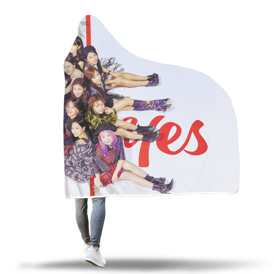 Twice Yes or Yes Hooded Blanket