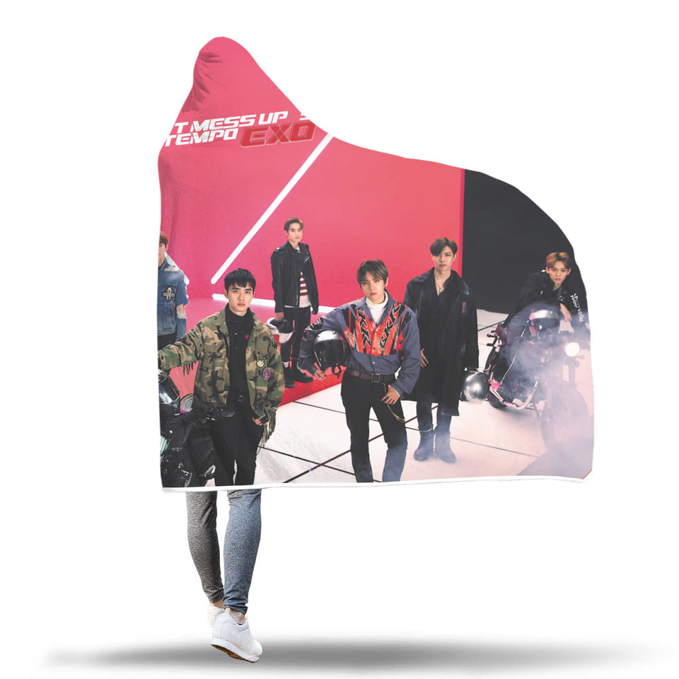 EXO Tempo MV Hooded Blanket