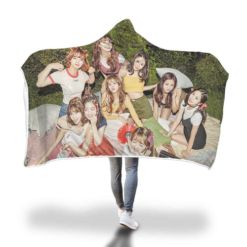 Twice Likey Hooded Blanket