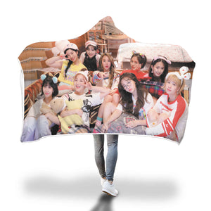 Twice Sleepover Hooded Blanket