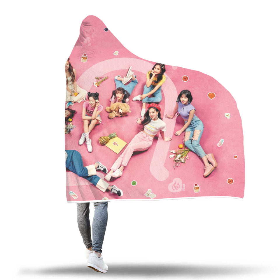 Twice What is Love Hooded Blanket