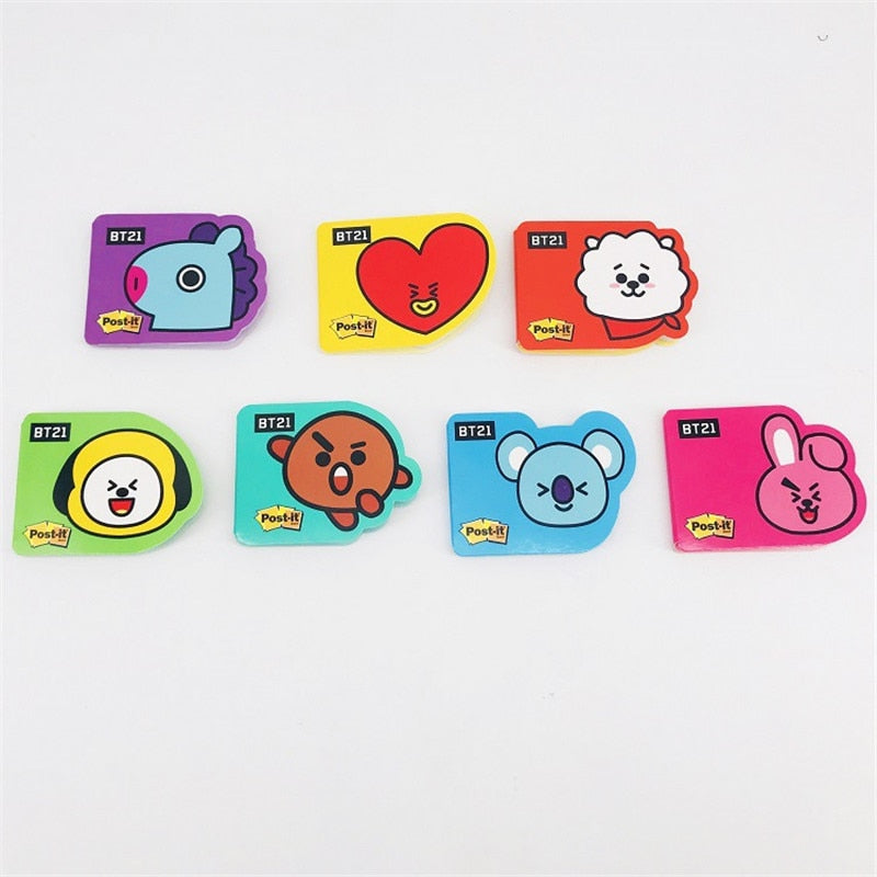 BT21 Post-it Notes