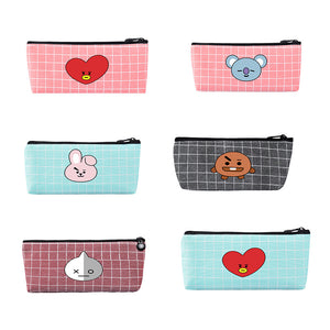 BT21 Grid Pencil Case