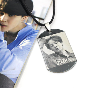 BTS Photo Tag Necklace