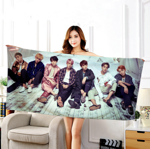 BTS WINGS Bath Towel