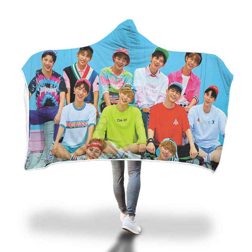 Wanna One Hooded Blanket
