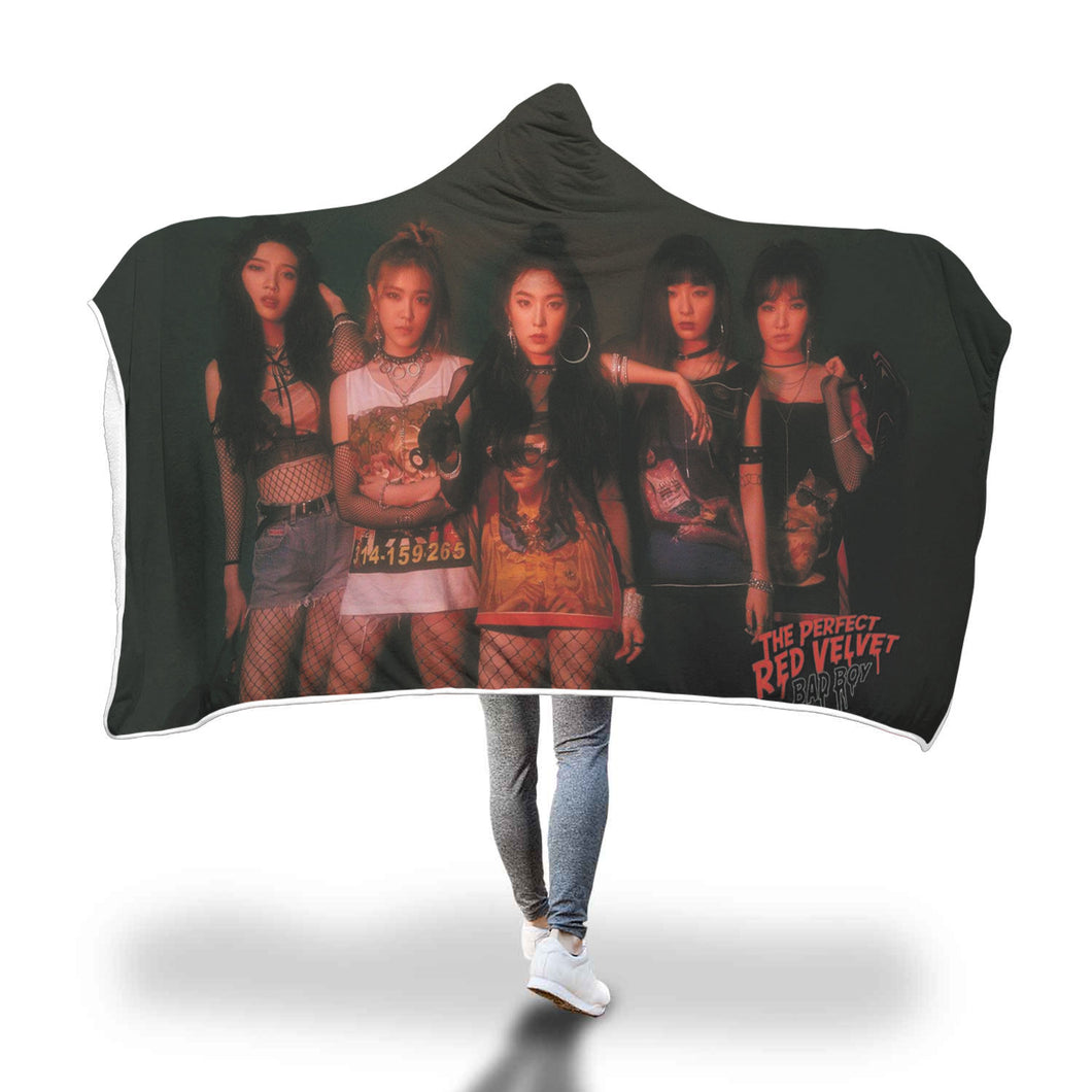 Red Velvet Bad Boy Hooded Blanket