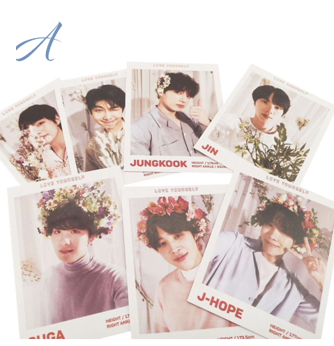 BTS Flower Photo Cards