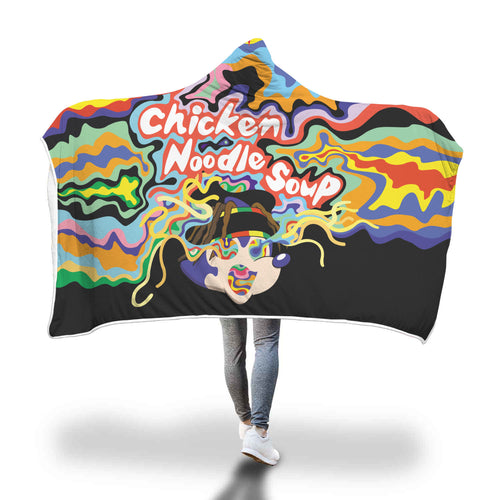 Chicken Noodle Soup Hooded Blanket