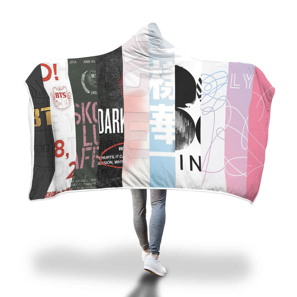 BTS Album Hooded Blanket