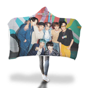BTS Dynamite Hooded Blanket